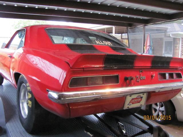 1969 chevrolet camaro z 28 tribute ex super stock race car. Black Bedroom Furniture Sets. Home Design Ideas