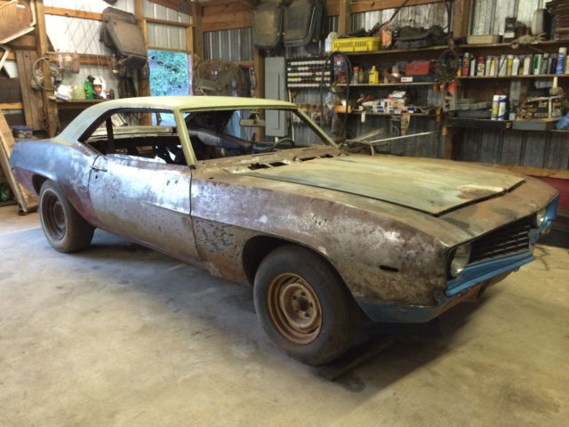 1969 Chevy Camaro Hardtop Project Car