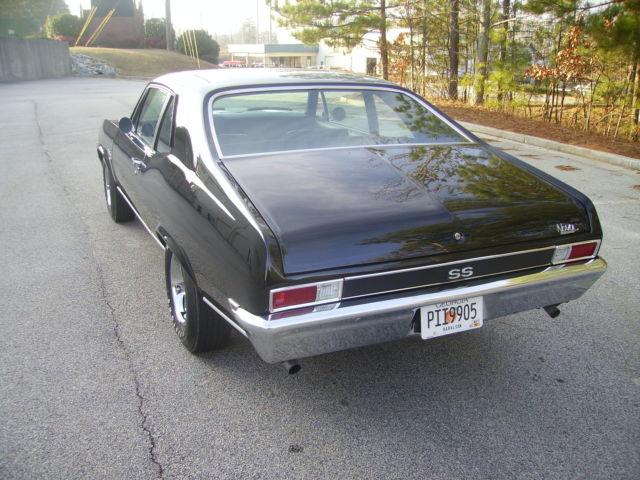 1969 chevy nova ss 350 v8 4 speed trans p s p b triple black awesome 69 nova. Black Bedroom Furniture Sets. Home Design Ideas