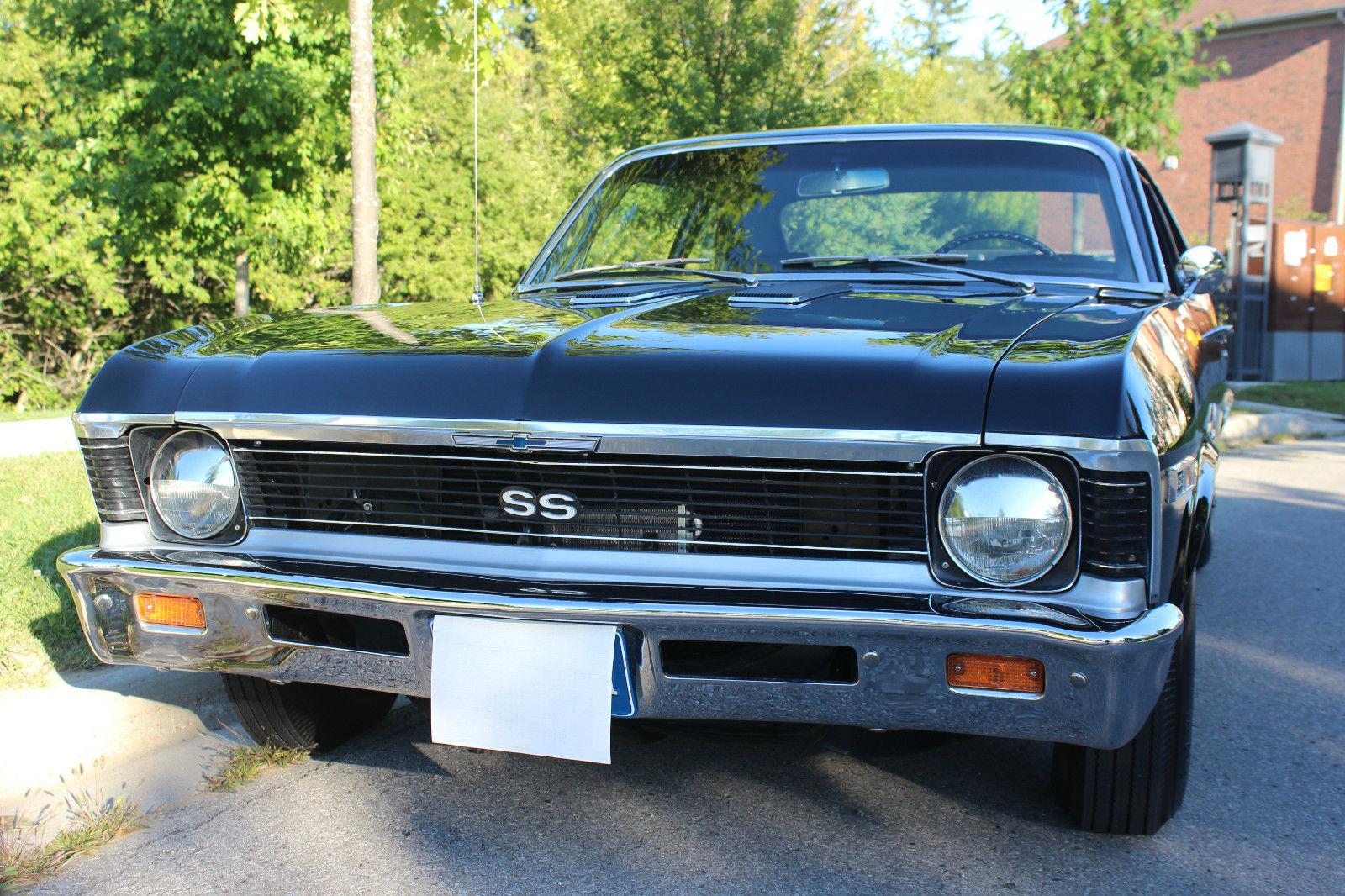 1969 Chevy Nova Ss Black On Black Documented