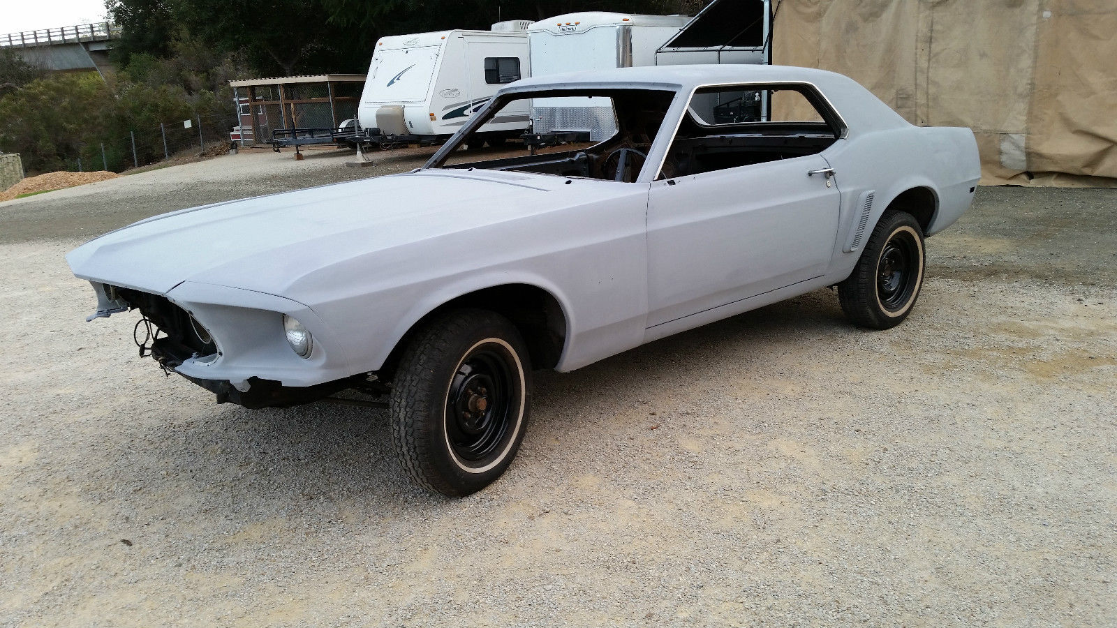 1969 classic ford mustang v8 coupe project car clean california car and title