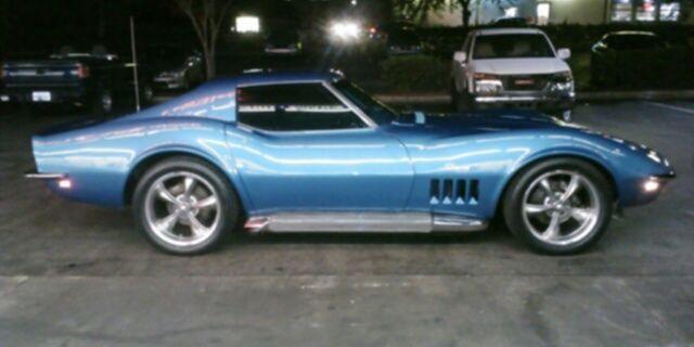 Corvette Coupe T Top Lemans Blue Ac With Factory Side Pipes on 1969 Chevrolet Lemans Blue Corvette Convertible