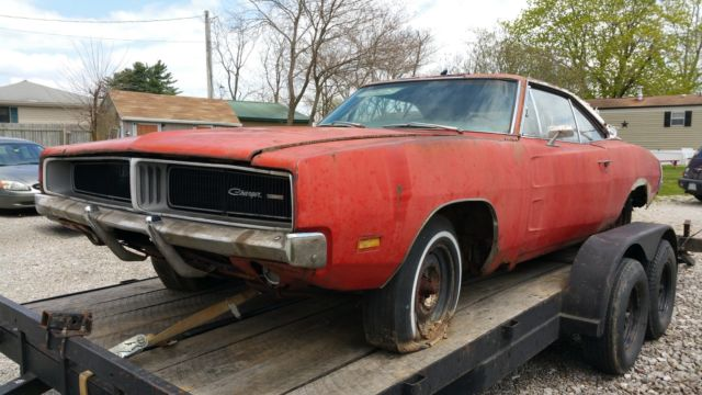 1969 Dodge Charger Original White Hat Special ! Barn Find ...