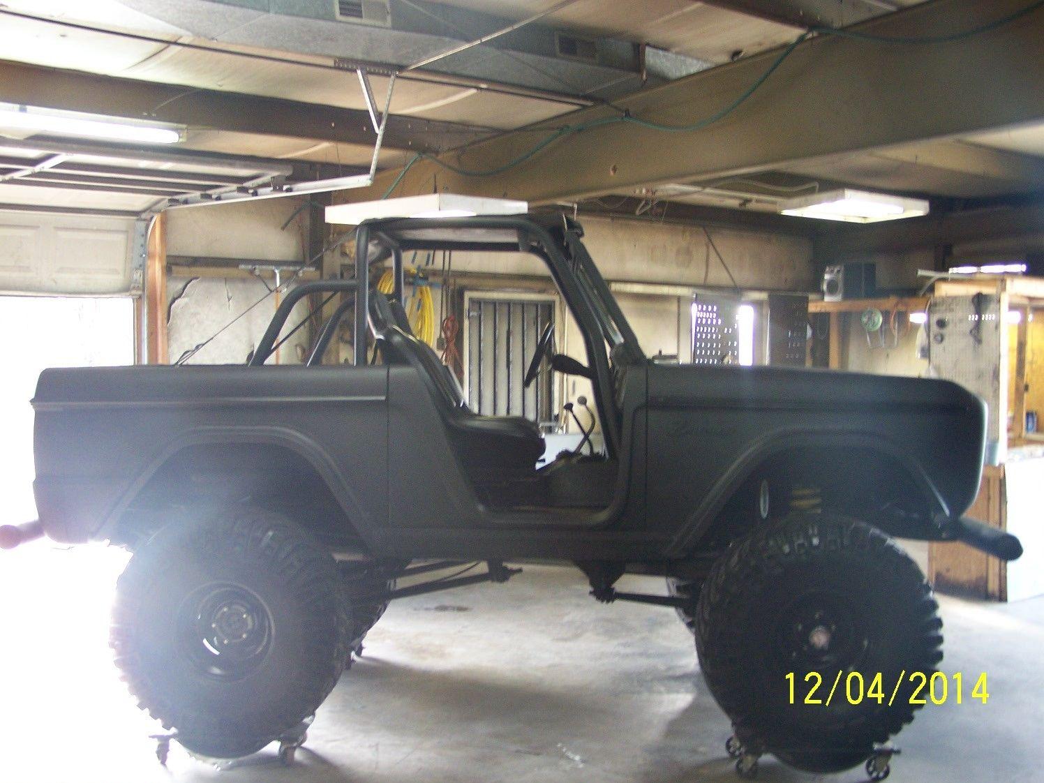 1969 Ford Bronco Matte Black Hotrod Lifted