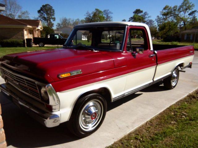 1969 ford f 100 ranger pickup truck 360 v8 3 on tree. Black Bedroom Furniture Sets. Home Design Ideas