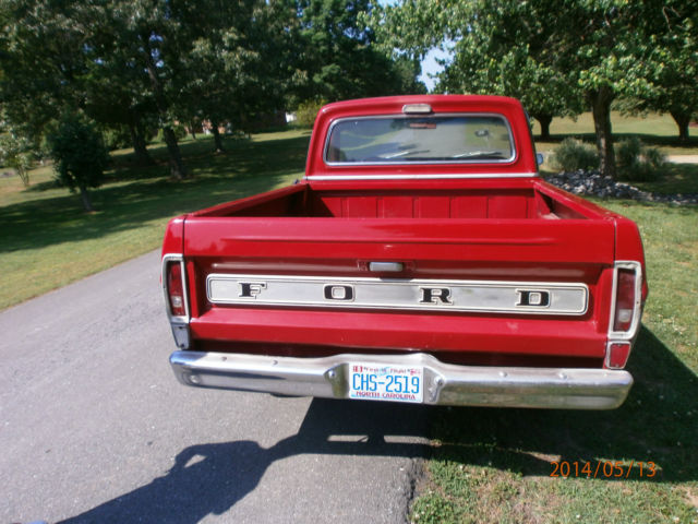 Ford F Ranger Short Bed Pick Up Truck Red   Gray Paint Older Custom on 1969 ford f100 ranger custom