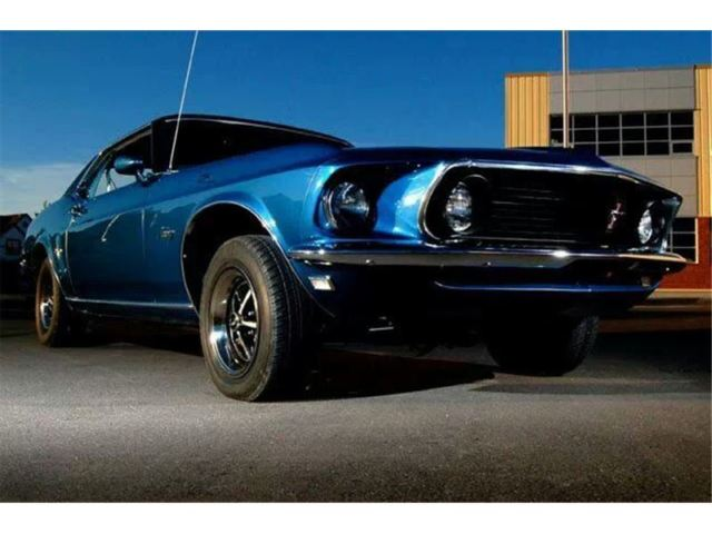 1969 Ford Mustang Coupe Grande Acapulco Blue 302 CID 2 bbl ...1969 Mustang Coupe Blue