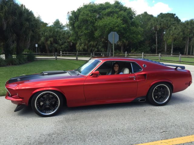 1969 ford mustang mach 1 custom pro tour 351 windsor modified kandy apple red
