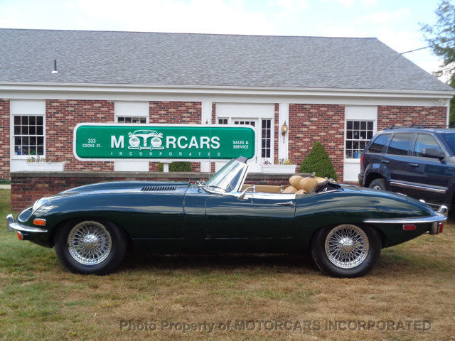 Jaguar e type convertible green