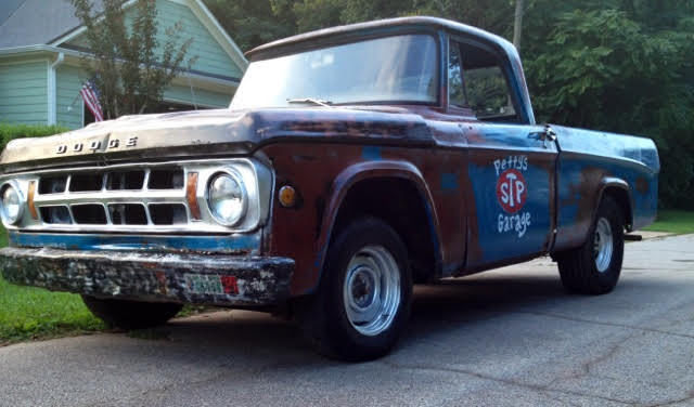 1969 Mopar Dodge D100 Short Wheelbase Rat Rod Style No Hemi Truck Petty S Garage