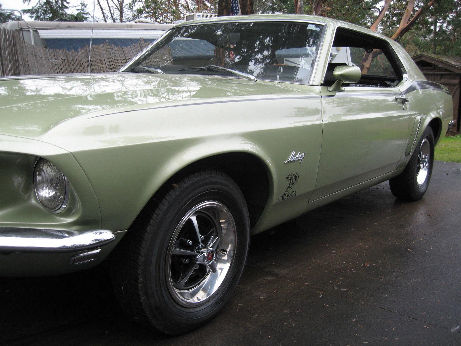 1969 Mustang 2 Dr Hardtop Coupe 302 V8 Hot Rod Factory Original Color Ford Msrp