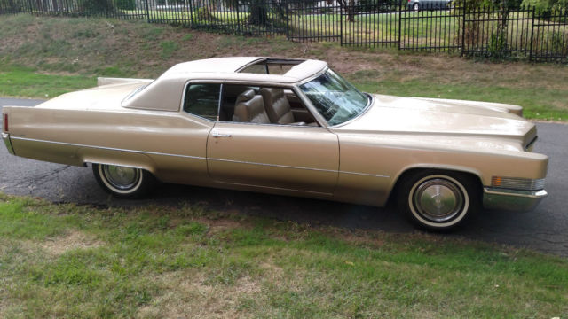 1970 Cadillac Coupe Deville 35 000 Miles And A Factory Sunroof Rare