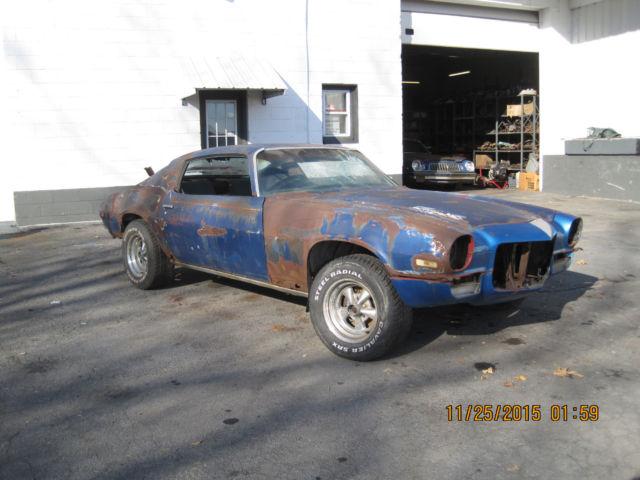 1970 CHEVROLET CAMARO PROJECT CAR AC DISC BRAKES GREAT RESTORATION START