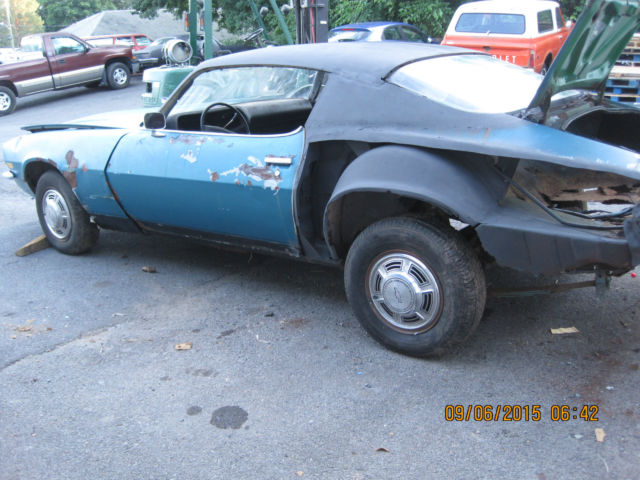 1970 CHEVY CAMARO PROJECT CAR NEEDS RESTORATION COMES WITH ...