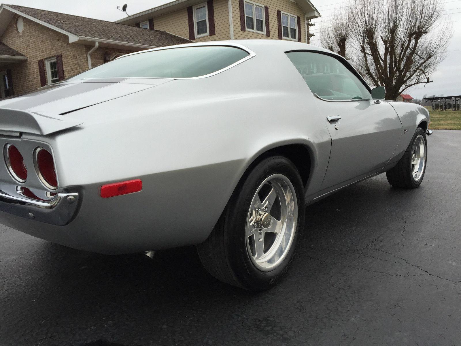 1970 chevy camaro z28 clone running a rebuilt 355 engine auto cortez silver. Black Bedroom Furniture Sets. Home Design Ideas