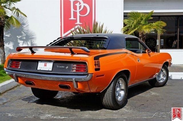 1970 Cuda 440 Six Pack 440ci Automatic Vitamin C Orange
