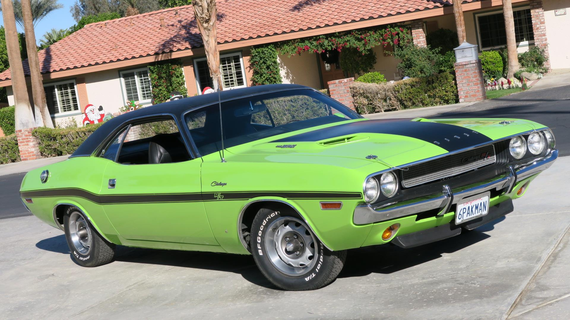 1970 dodge challenger r t 440 4 speed u code california car sublime green rare. Black Bedroom Furniture Sets. Home Design Ideas