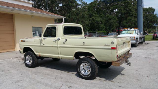1970 ford f100 custom short bed 4x4 original paint california truck. Black Bedroom Furniture Sets. Home Design Ideas