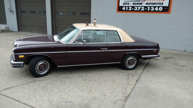 1970 mercedes benz 250c 2 door hardtop dark cherry with a for Buy old mercedes benz