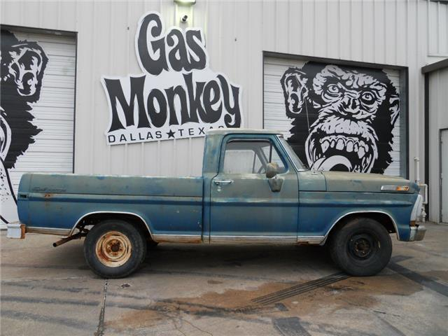 1971 ford f 100 swb v8 project offered by gas monkey for Garage ford paris 11