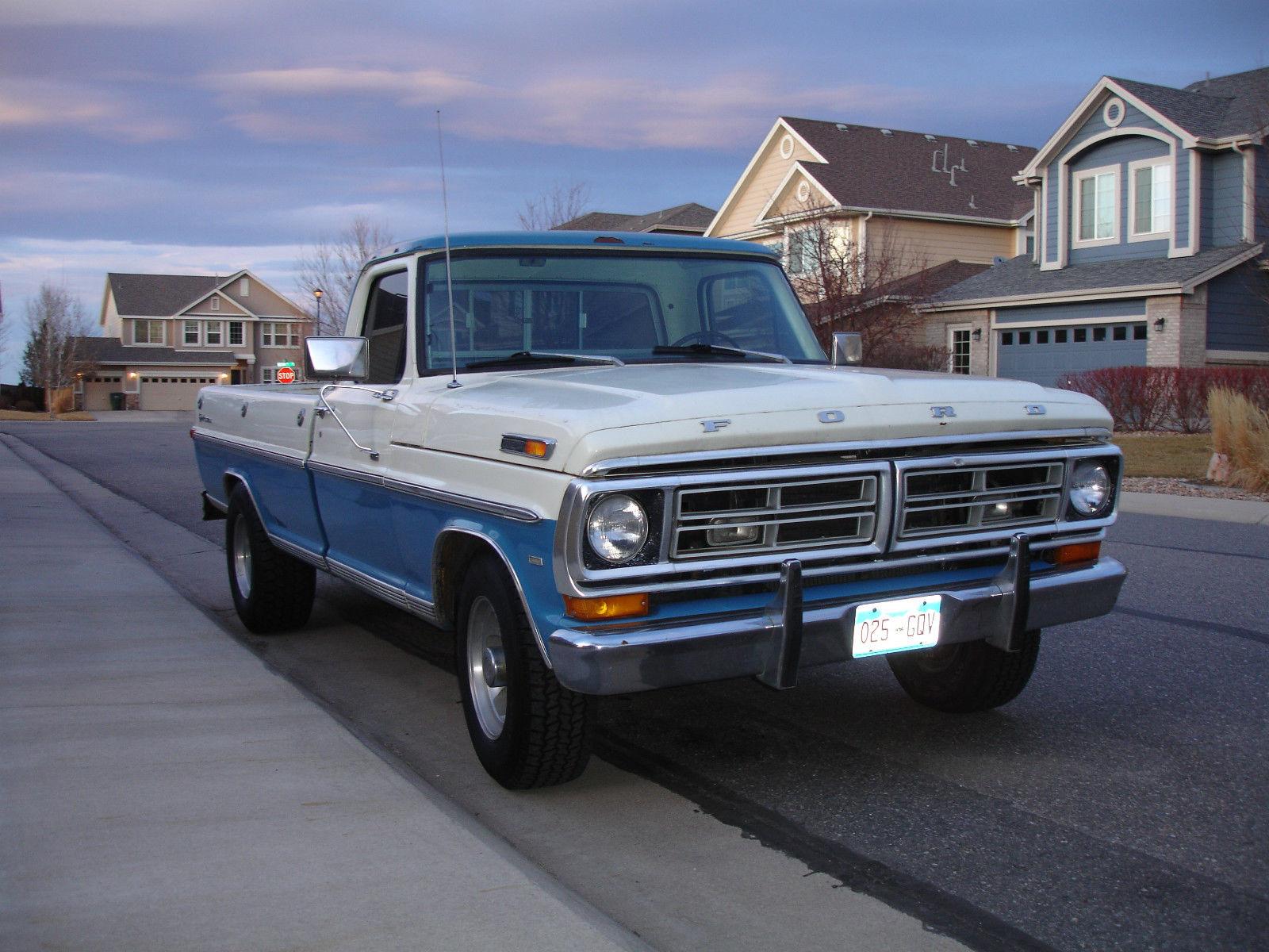 1971 ford f 250 sport custom vintage truck. Black Bedroom Furniture Sets. Home Design Ideas