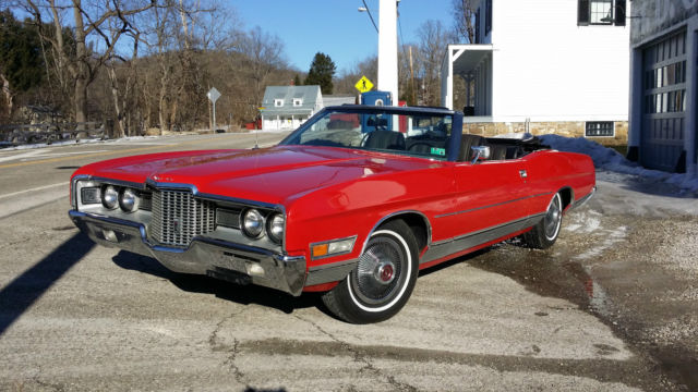 1971 Ford Ltd Convertible Rare Bucket Seat A C Power Top