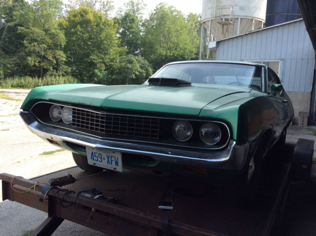 1971 Ford Torino J Code 429 Ram Air Very Complete Car Has Rust Barn Find Rare
