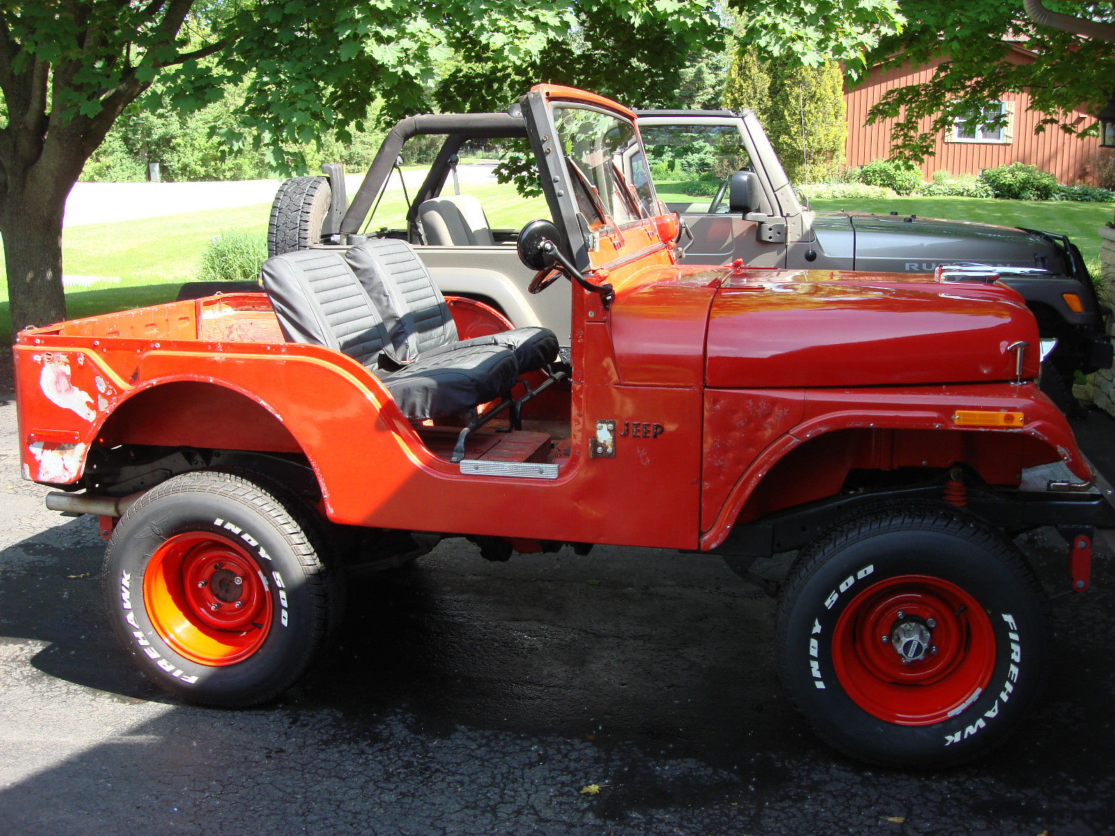 1971 jeep cj5 hotrod ratrod 302v8 auto 4x4 with factory hardtop for sale in elgin illinois. Black Bedroom Furniture Sets. Home Design Ideas