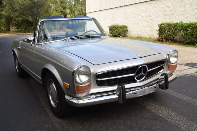 1971 mercedes benz 280sl rare 180g silver auto frigiking a c nice driver. Black Bedroom Furniture Sets. Home Design Ideas