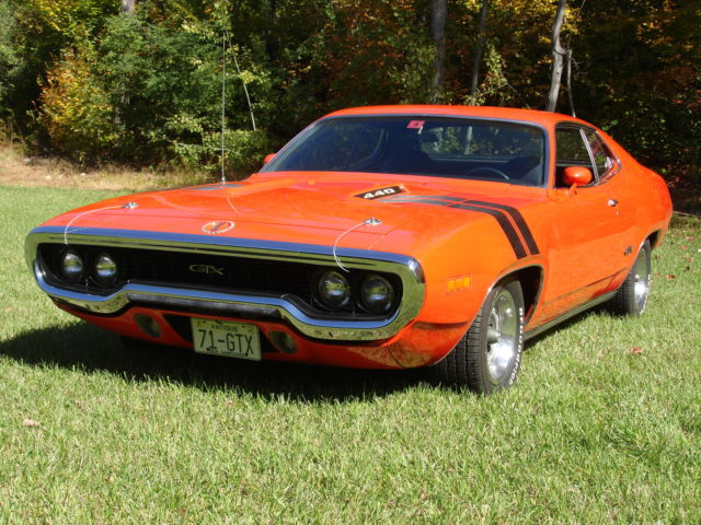 1971 Plymouth Gtx 440 Number S Matching Muscle Car