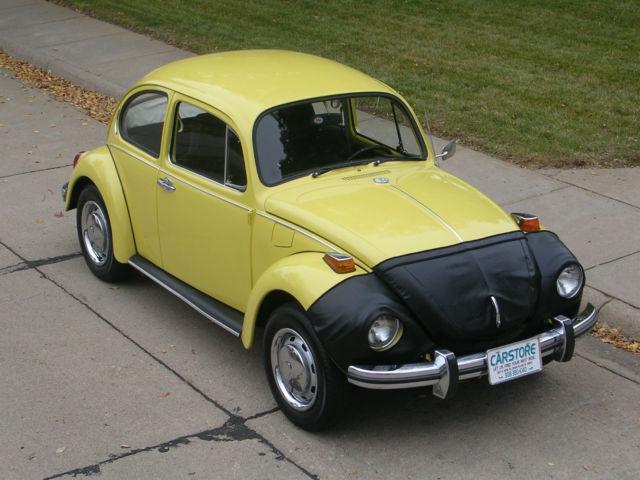 volkswagen classic super beetle fun fun fun yellow  super nice body