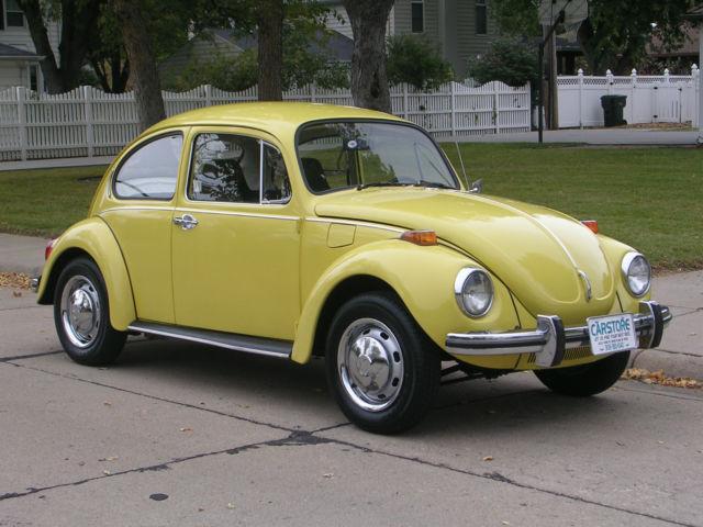 1971 volkswagen classic super beetle fun fun fun yellow with super nice body. Black Bedroom Furniture Sets. Home Design Ideas