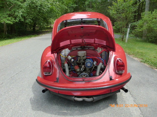 1971 VW Super Beetle - Cal look restoration - Red