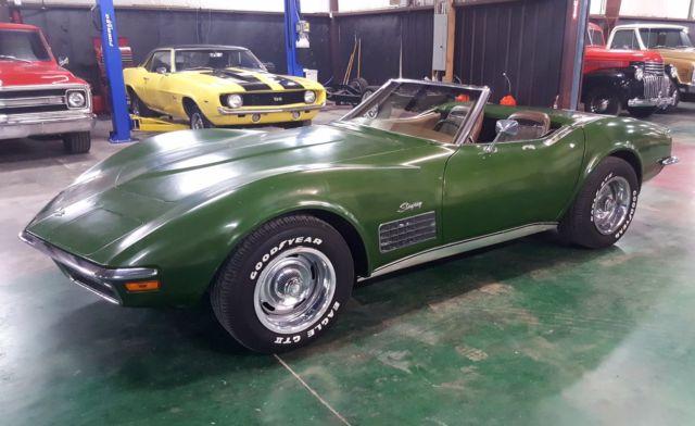 1972 Chevrolet Corvette Stingray Convertible 350 4 Speed Survivor