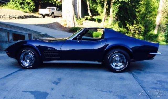 1972 Chevy Corvette LT1 T Top 340HP V8 Gas 4 Speed Manual