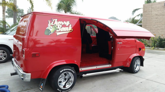 1972 chevy custom shorty van g20 street van hot rod cherry bomb for sale in la jolla. Black Bedroom Furniture Sets. Home Design Ideas