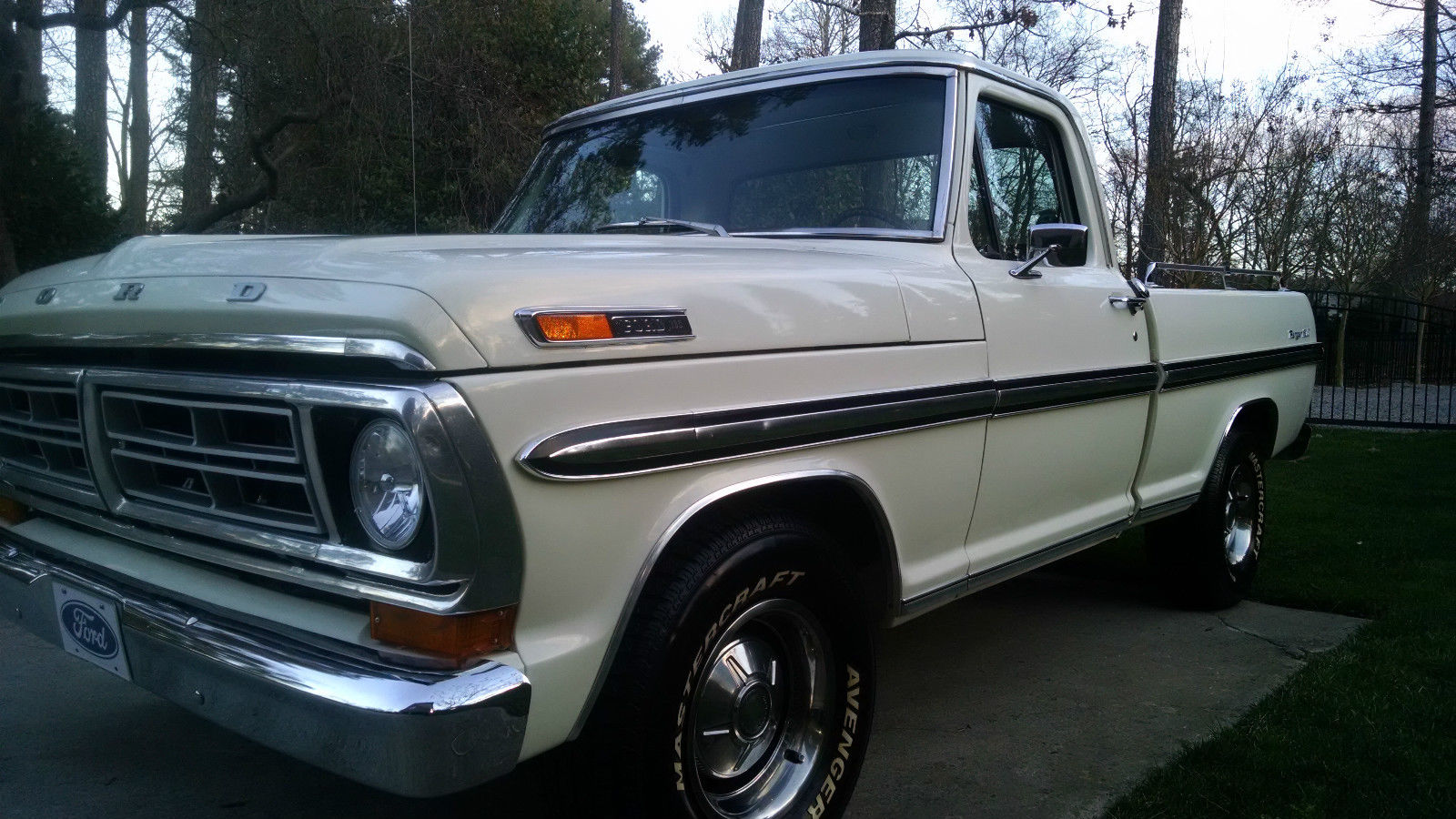 1972 F 100 Ranger Xlt In Original Wimbledon White For Sale 1969 Ford Bronco Raleigh North Carolina United States