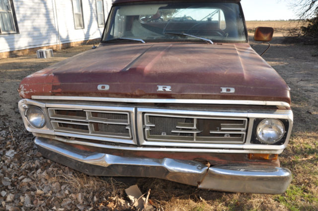 1972 ford f100 4wd parts truck 1972 ford f 100 custom for sale in. Cars Review. Best American Auto & Cars Review