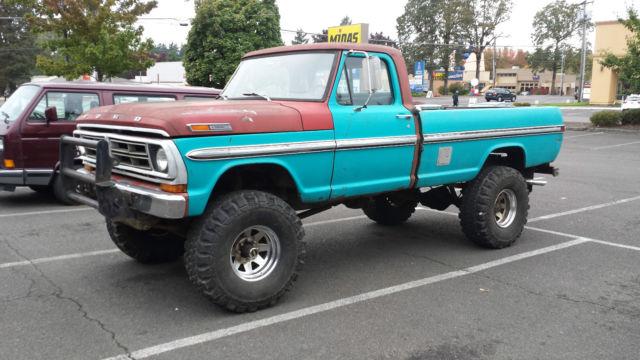 Used Tires Portland >> 1972 Ford F250 4x4 Highboy Truck