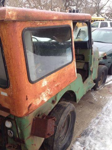 1972 jeep cj5 all org barn find military jeep no reserve