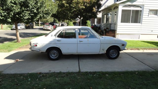 1972 Mazda Rx2 White 4dr manual, Factory A/C not running ...