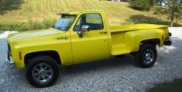 1973 Chevy K10 Rare Long Bed 4x4 Stepside Pickup Truck Show Quality