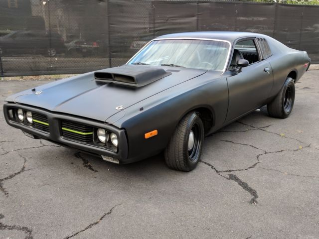 1973 Dodge Charger Se Black On Black Classic Muscle Car With Attitude