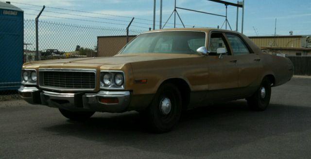 1973 Dodge Polara Police Pursuit Package Az Rust Free