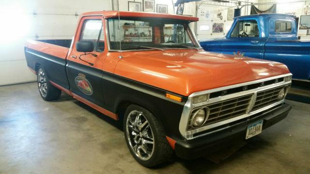1973 ford f100 old school hot rod rat rod pickup f 100 shop truck daily driver. Black Bedroom Furniture Sets. Home Design Ideas