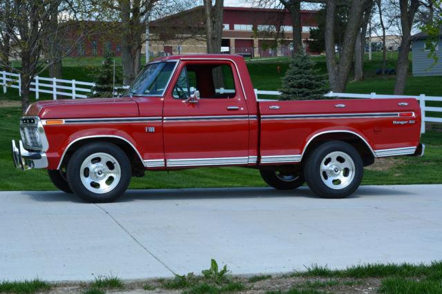 1973 ford f100 ranger xlt short bed pickup 390 auto. Black Bedroom Furniture Sets. Home Design Ideas