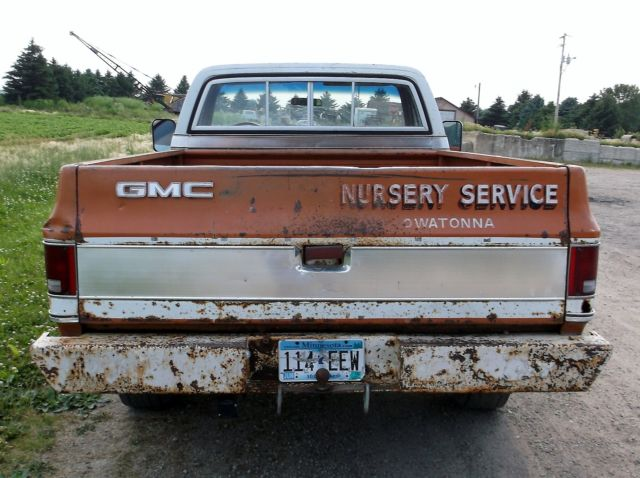 1973 GMC Sierra Grande 2500 Pickup Truck Original AC Slider Wood Floor Survivor