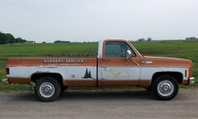 1973 Gmc Sierra Grande 2500 Pickup Truck Original Ac