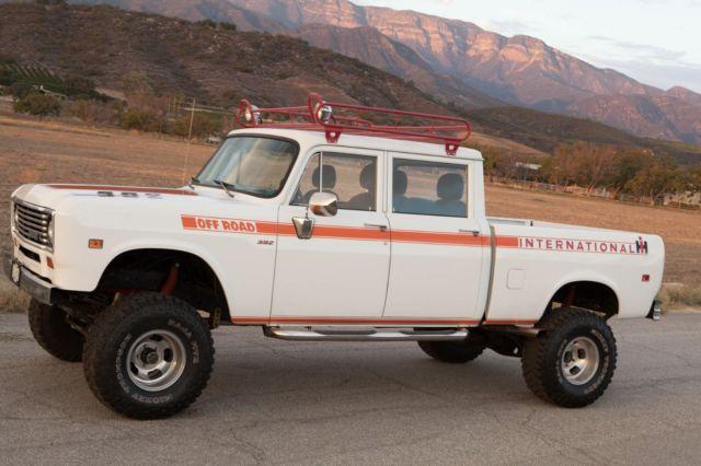 International Pickup Trucks For Sale >> 1973 International Harvester Travelette 4x4 Crew-Cab Pickup Truck