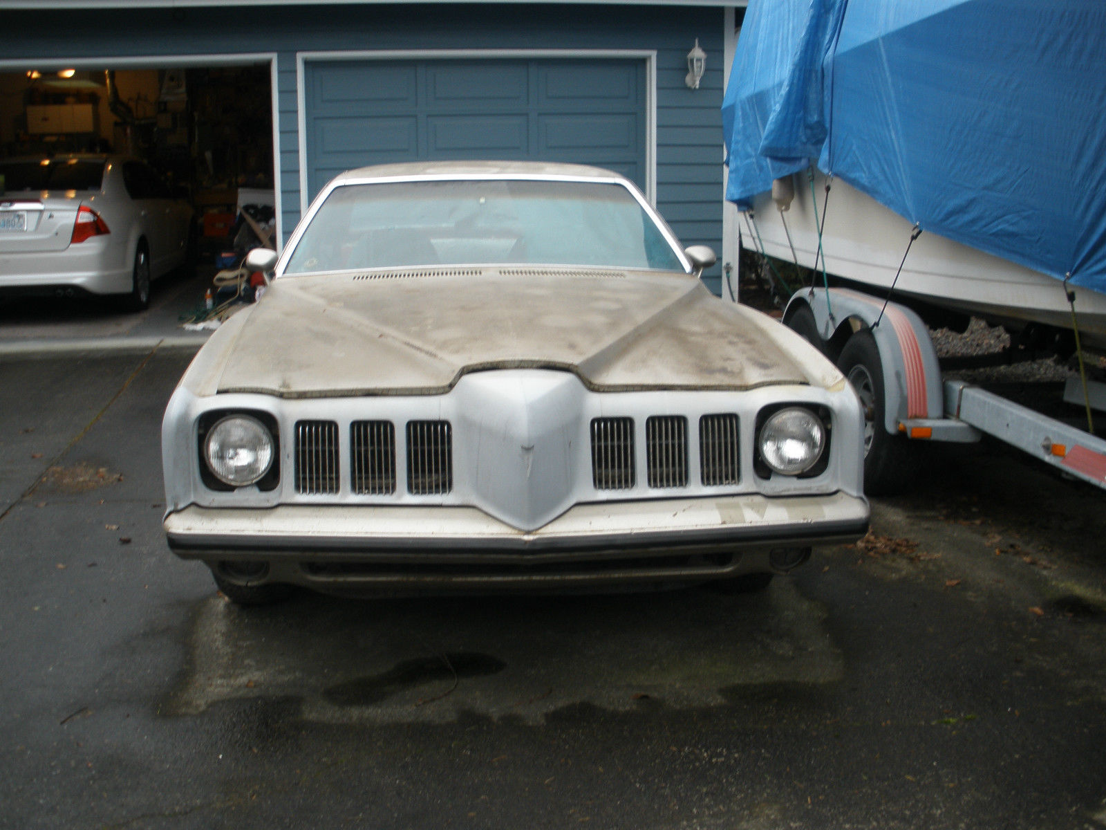 1973 Pontiac Grand Am Base Hardtop 4 Door 66l Gto Project Car